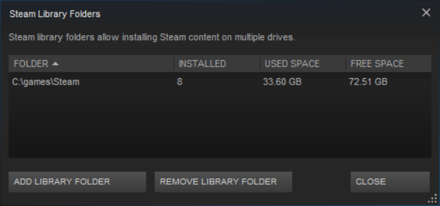 Steam Library Folders